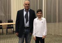 Участь у турнірі та фото з Каспаровим на згадку