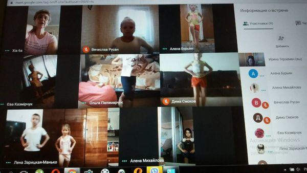 Робота ансамблю естрадного танцю «Драйв» в он-лайн режимі